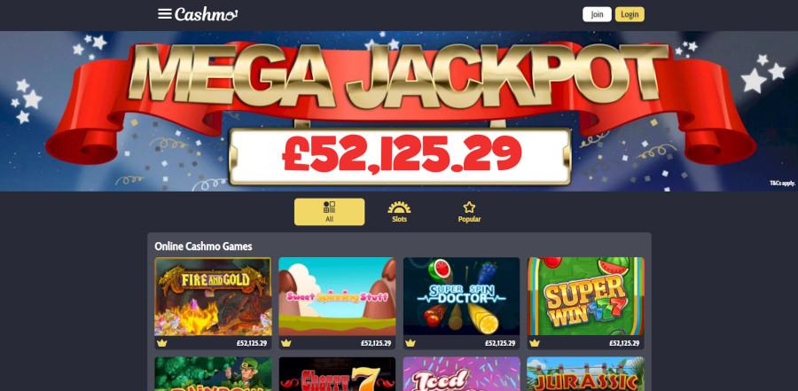 Cashmo Casino sister sites games