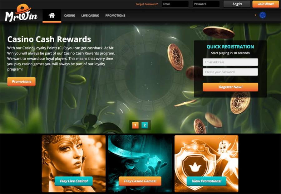 mr win casino sister sites screen