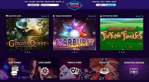 Magical Vegas Sister Site Promotions